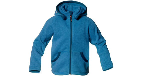 Isbjörn Rib Sweater Hood Kids Hawaiian Ocean